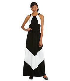 0ebd13e836c00 Vince Camuto Colorblock Jersey Maxi Dress  Dillards