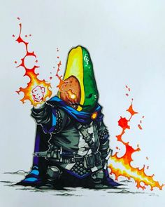 Fantasy Character Design, Character Concept, Character Art, Concept Art, Copic, Battle Mage, Arte Robot, Food Cartoon, Cyberpunk Art