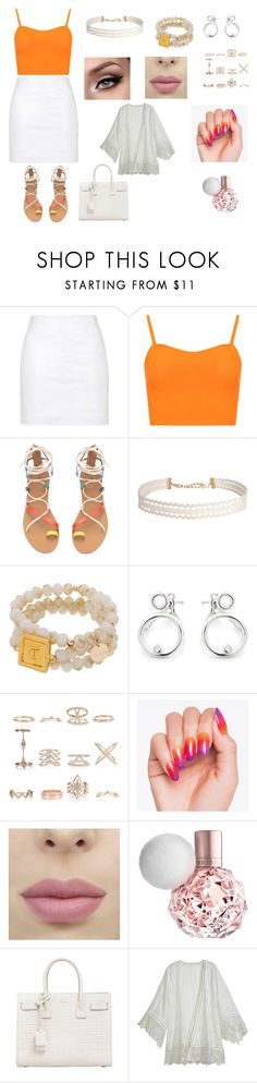 """""""cool cute summer outfit"""" by sarah4ever123 ❤ liked on Polyvore featuring Topshop, WearAll, Humble Chic, New Look, Yves Saint Laurent and Calypso St. Barth"""