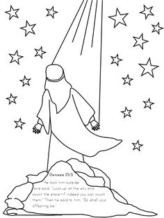 abraham and the promise coloring pages Google Search Education