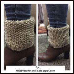 Croche,trico,bordado,ponto cruz,crafts, e muito mais dicas pra voce: Boot Cuffs