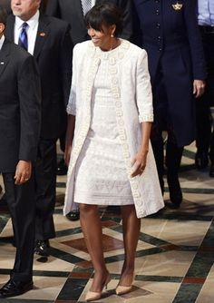 Michelle Obama's Best Looks Ever! - 2013 - Naeem Khan from #InStyle
