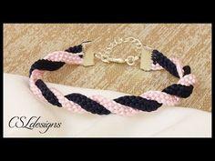 (24) Two colour twisted kumihimo bracelet - YouTube
