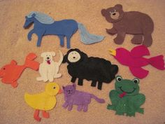 felt pieces to retell Brown Bear, Brown Bear What do you See?