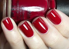 China Glaze - Red Satin at TJ MAXX :) THE PERFECT CHRISTMAS NAILS !! A HAPPY JOLLY RED :)