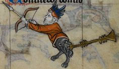 Detail from medieval manuscript, British Library Stowe MS 17 'The Maastricht Hours', f201r
