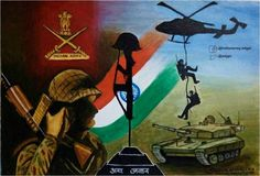 """Online Painting Competition,Army Day Painting by Sreekala Murali Age 35 Yrs reflects Alert & Always Ready. Independence Day Drawing, Independence Day Wallpaper, Soldier Drawing, Army Drawing, India Painting, Online Painting, Remembrance Day Art, Indian Army Wallpapers, India Poster"