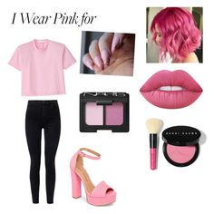 """i wear pink for all women💖"" by kitkatanne ❤ liked on Polyvore featuring TIBI, J Brand, Chinese Laundry, Bobbi Brown Cosmetics and NARS Cosmetics"