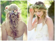 natural flower crowns wheat muted flowers
