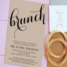 Our Favorite DayAfter Wedding Brunch Invitations Brunch