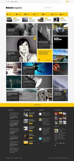Block Magazine - Flat and Minimalist Blog Theme #blogtheme #wordpressblog Live Preview and Download: http://themeforest.net/item/block-magazine-flat-and-minimalist-blog-theme/7805775?ref=ksioks
