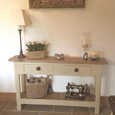 #countryhome #interiorinspiration #decor #interiors #farrowandball #consoletable #candle #vintage #frenchgrey