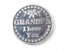 Grandpa Gift Love Token Coin - Best Grandpa Coin Gift - Gifts for Grandpa - Family Gifts Pocket Token - Grandfather gift - Sentimental Gifts