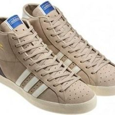 sports shoes 34cca 82242 Adidas Originals Basket Profi OG light brown basketball hi top trainers  Sports Brands, Well Dressed
