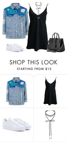 """Untitled #334"" by charlotte-down on Polyvore featuring Topshop, adidas, Miss Selfridge and Yves Saint Laurent"