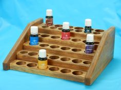 Medium Counter Display Essential Oil Rack Display Essential Oil Holder, Doterra Essential Oils, Counter Display, Aromatherapy, Wood Projects, Essentials, Woodworking, Perfume, Diy