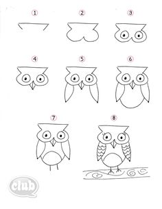 Owl Obsession Series – How to Doodle an Owl | Tween Crafts - Connecting Mom and Daughter through crafting