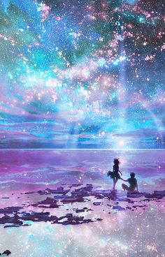 Dans le fond d'affiche de ciel nocturne The Effective Pictures We Offer You About anime dessin m Anime Galaxy, Galaxy Art, Galaxy Space, Art Galaxie, Ciel Nocturne, Star Sky, Star Ocean, Fantasy Landscape, Landscape Art