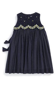 Main Image - Luli & Me Dot Print Sleeveless Dress (Baby Girls) Little Girl Outfits, Little Girl Dresses, Kids Outfits, Baby Girl Dresses, Cute Dresses, Baby Girls, Cute Fashion, Kids Fashion, Girls Frock Design