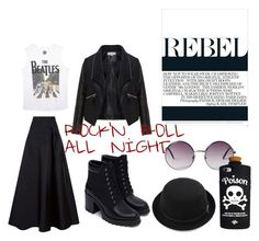 """Rebel"" by ninamkt on Polyvore featuring moda, MaxMara, Zizzi, Wet Seal, Zara, Monki e Valfré"