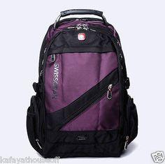 Unisex Swissgear Backpack School Laptop Bag Travel Hiking Nylon