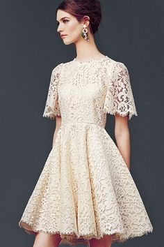 This is the perfect little white summer dress! I'm in love!  Dolce & Gabbana