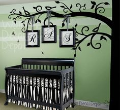 Items similar to Wall Decals Tree wall decal: Elegant Style Blowing Leaves Tree Decal for Baby Nursery or Home on Etsy, a global handmade and vintage marketplace.