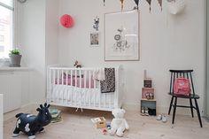 add pops of black for a modern nursery