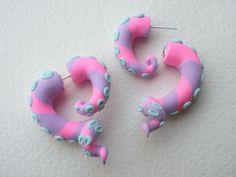 Pastel Sea Monster Tentacle Fake Gauge Earring by Deceptions