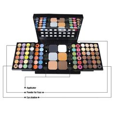 NYX Eye Shadow Palette 78 Colors ~ I got this for $12.99 at TJMaxx Bam! I'm going to have some fun ;-D