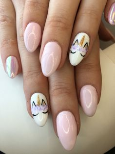 #unicornnails #nails #nailart #naildesign #unicorn #nailedit #summernails #cutenails #springnails #nails2018