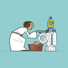 La princesa Leia molestando al pobre de R2D2 #humorgeek