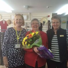 We are sadly saying bye to Ann who is retireing after being a Volunteer in our Epworth Shop for nearly 12 years. Ann is pictured with Shop Manager`s Lorna and Karen. It has been wonderful working with you. Thank you :)