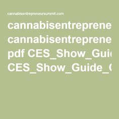 cannabisentrepreneursummit.com pdf CES_Show_Guide_Green_Flower.pdf
