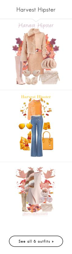 """""""Harvest Hipster"""" by michele-nyc ❤ liked on Polyvore featuring Furla, Gianvito Rossi, Ann Demeulemeester, Carven, Miss Selfridge, Echo, Christian Dior, Privileged, MICHAEL Michael Kors and Gucci"""