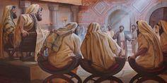Pedro contestando con valentía las preguntas de los líderes religiosos judíos