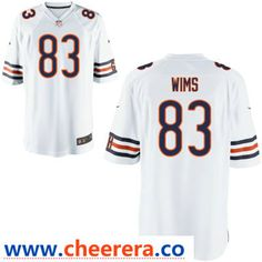 ce7363b00d7 Men's Chicago Bears #83 Javon Wims White Road Stitched NFL Nike Elite Jersey