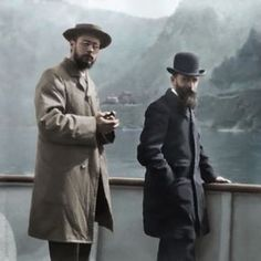 Pierre Bonnard and Edouard Vuillard during a trip to Italy in photographed by Ker-Xavier Roussel, photo restored and colorised by painters-in-color Pierre Bonnard, Edouard Vuillard, Paul Gauguin, Famous Artists, Great Artists, Male Artists, Artist Art, Artist At Work, Felix Vallotton