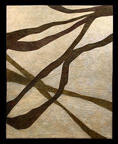 "Image of ""Willow Wood"" quilt by Bonnie Bucknam. Fiber Art Quilts, Art Quilting, Landscape Art Quilts, Vision Art, Willow Wood, Machine Quilting Designs, Textile Patterns, Textiles, Contemporary Quilts"