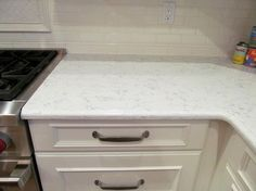 Photo Image Quartz Countertop Sample in Lyra from Home Depot For Kitchen
