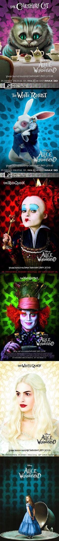 Alice In Wonderland - Tim Burton  Absolutely love this movie