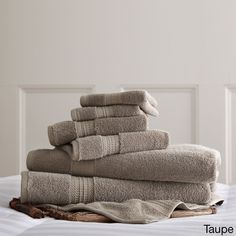 650 GSM Luxury Spa Collection 100-percent 6-piece Towel Set