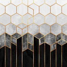 """Beautiful """"Charcoal Hexagons"""" metal poster created by Elisabeth Fredriksson. Our Displate metal prints will make your walls awesome. Home Design Decor, House Design, Interior Design, Art Mural, Wall Murals, Wall Art, Wall Tile, Hexagon Wallpaper, Small Restaurant Design"""
