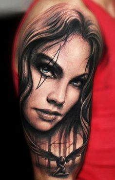 Amazing woman tattoo by Riccardo Cassese