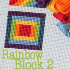 Cross Stitch: Rainbow Block 2