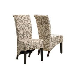 @Overstock - Add to your home decor with this lovely Tan Swirl Parson chair. The chair features a unique pattern in tan, padded boxed seat, and a comfortable curved back. http://www.overstock.com/Home-Garden/Tan-Swirl-Parson-Chair-Set-of-2/6803398/product.html?CID=214117 $274.99