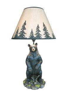 "Arkadius 26"" Standing Bear Lamp #TallLamp"
