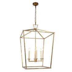 1422D24GI - Elegant Lighting 1422D24GI Denmark Pendant Lamp L:24in W:24in H:34in Lt:6 Golden Iron Finish - GoingLighting
