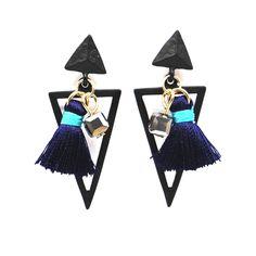 섬세한 기하학적 삼각형 술 귀걸이 여성 Pendientes 패션 보석