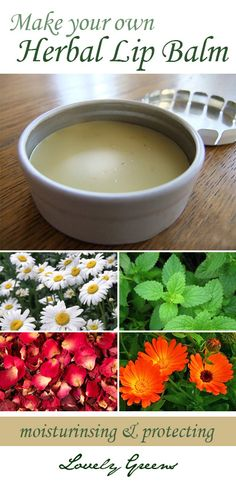 DIY : How to make your own Herbal Lip Balm. Now I know what I'm doing with my peppermint and lemon balm herbs.